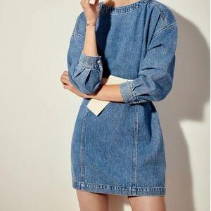 Zara belted denim dress